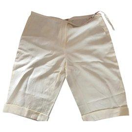 Hermès-short-Blanc cassé