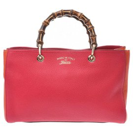 Gucci-Gucci Bamboo Shopper-Rouge