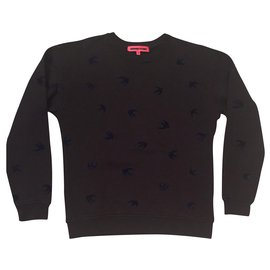 Alexander Mcqueen-MCQ- Bird pattern sweatshirt- New-Black