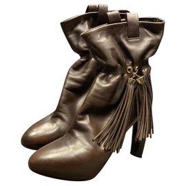 Céline-Boots Celine Marron-Marron foncé