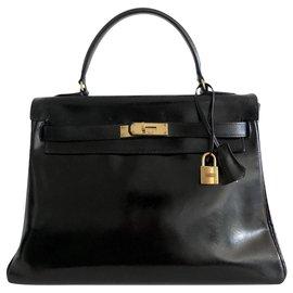 Hermès-hermes kelly 32 Black Box-Black