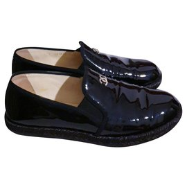 Chanel-Chanel moccasins / espadrilles 39.5-Black