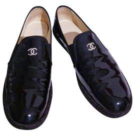 Chanel-Mocassins / espadrilles Chanel 39.5-Noir
