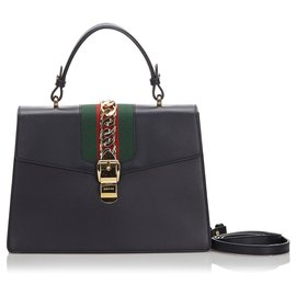 Gucci-Cartable Sylvie Medium Gucci Noir-Noir,Multicolore