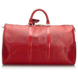 Louis Vuitton-Louis Vuitton Red Epi Keepall 50-Red