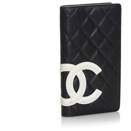 Chanel-Portefeuille Chanel Cambon Ligne Long Noir-Noir