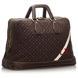 Louis Vuitton-Louis Vuitton Brown Monogram Mini Lin Initiales Isfahan Travel Bag-Brown,Dark brown