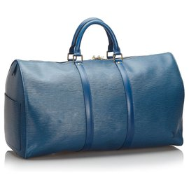 Louis Vuitton-Louis Vuitton Blue Epi Keepall 50-Bleu