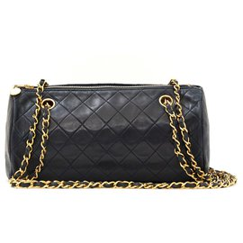 Chanel-TIMELESS CLASSIC NAVY-Golden,Navy blue