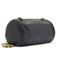 Chanel-TIMELESS CLASSIQUE NAVY-Doré,Bleu Marine