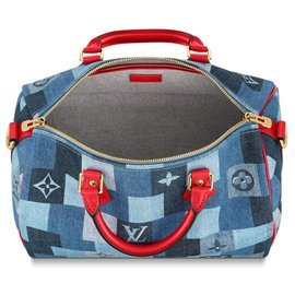 Louis Vuitton-Speedy LV new-Blue