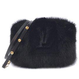 Louis Vuitton-Louis Vuitton Muff Lv Logo Black Mink-Black