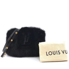 Louis Vuitton-Vison Louis Vuitton Muff Lv Logo Preto-Preto