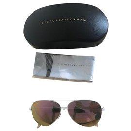 Victoria Beckham-Des lunettes de soleil-Blanc
