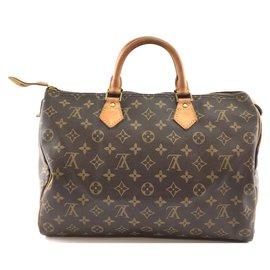 Louis Vuitton-Louis Vuitton Speedy 35 Toile monogramme-Marron