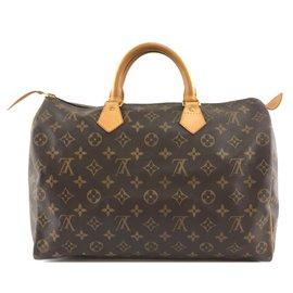 Louis Vuitton-Louis Vuitton Speedy 35 Monogram canvas-Brown