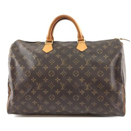 Louis Vuitton-Louis Vuitton Speedy 40 Toile monogramme-Marron