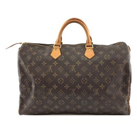 Louis Vuitton-Louis Vuitton Speedy 40 Monogram canvas-Brown