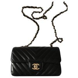 Chanel-Chanel mini rectangular classic flap-Black