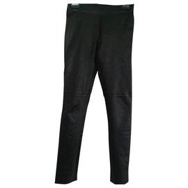 Joseph-Legging Noir en Cuir Stretch Joseph-Noir