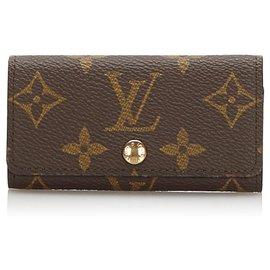 Louis Vuitton-Louis Vuitton Brown Monoram Key Holder Wallet-Brown
