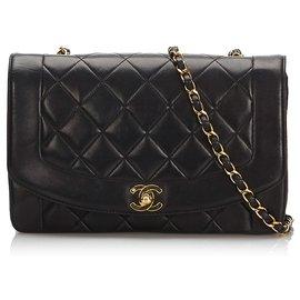 Chanel-Chanel Noir Diana Flap Sac à bandoulière-Noir