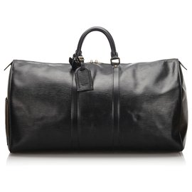 Louis Vuitton-Louis Vuitton Black Epi Keepall 50-Black