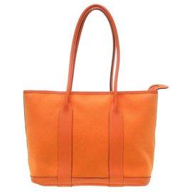Hermès-Hermès Garden Party PM Tote Bag-Orange