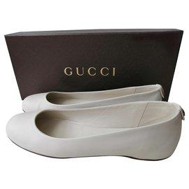 Gucci-Ballerines-Blanc