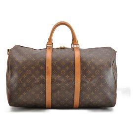 Louis Vuitton-Louis Vuitton Keepall Bandouliere 50-Brown