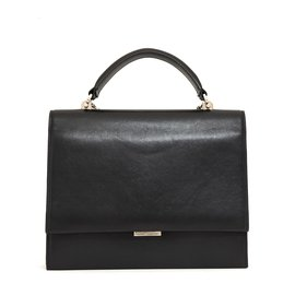 Saint Laurent-BABYLONE MEDIUM BLACK-Noir,Argenté