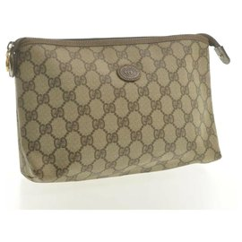 Gucci-Gucci Leather Pouch-Beige