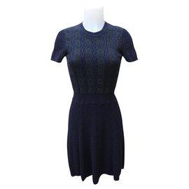 Valentino-Dresses-Navy blue