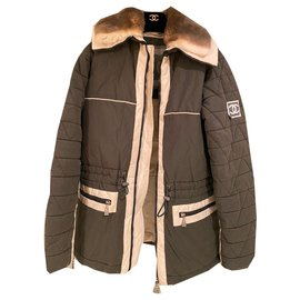 Chanel-Rabbit fur coat-Khaki