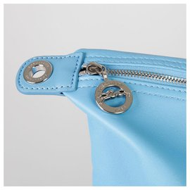 Longchamp-Longchamp leather bag-Light blue