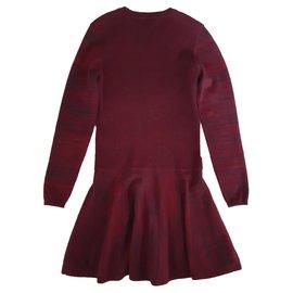 Ganni-Dresses-Dark red