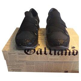 John Galliano-Compensé paillettes-Noir,Multicolore,Gris anthracite