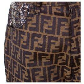 Fendi-Un pantalon, leggings-Marron