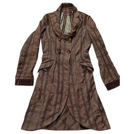 One step-Coats, Outerwear-Brown