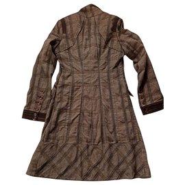 One step-Manteaux, Vêtements d'extérieur-Marron
