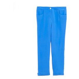 Chanel-BLUE SILK FR40/42-Bleu