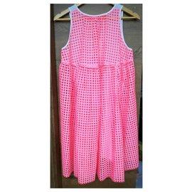 Manoush-Dresses-Pink,White
