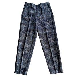 7 For All Mankind-Pants, leggings-Light blue,Dark blue