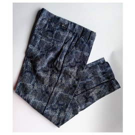 7 For All Mankind-Un pantalon, leggings-Bleu clair,Bleu foncé