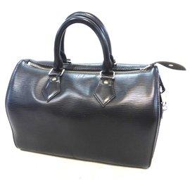 Louis Vuitton-Speedy 25 Cuir épi noir-Black