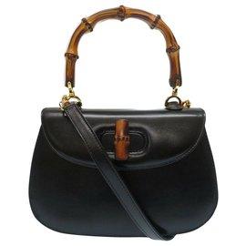 Gucci-Gucci Bamboo Hand Bag-Black