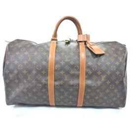 Louis Vuitton-keepall 55 Monogram-Brown