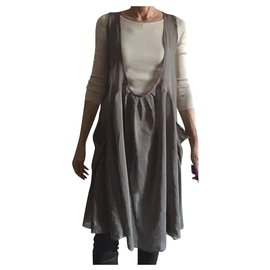 Cotélac-cotélac taupe tunic or chasuble dress T. 1-Taupe