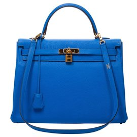 Hermès-Kelly 35-Bleu
