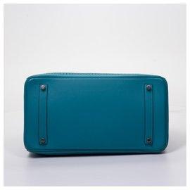 Hermès-Birkin 35-Turquoise